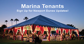 Image of the Marina Terrace events venue at Newport Dunes Resort.